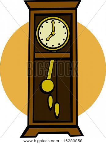 grandfather pendulum clock