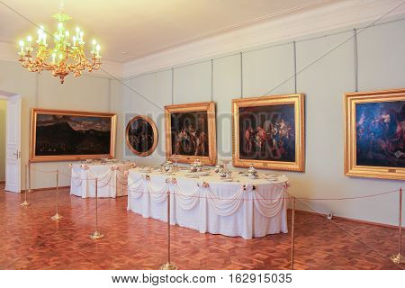 Gatchina, Russia - 3 December, The front room of the Gatchina Palace, 3 December, 2016. Visit the Museum Reserve Gatchina Palace.