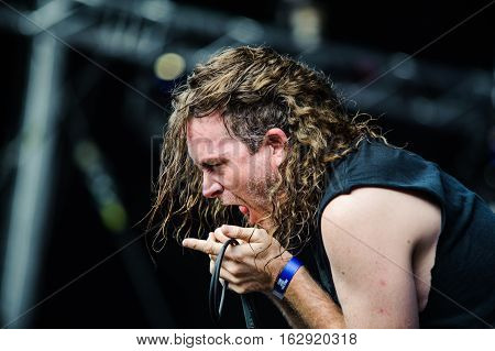 TOLMIN, SLOVENIA - JULY 26TH: AMERICAN DEATHGRIND METAL BAND CATTLE DECAPIPTATION PERFORMING AT METALDAYS FESTIVAL ON JULY 26TH, 2016 IN TOLMIN, SLOVENIA