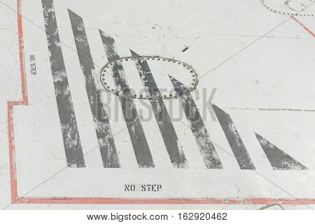Close Up Of Airplane Wreckage Wing Component