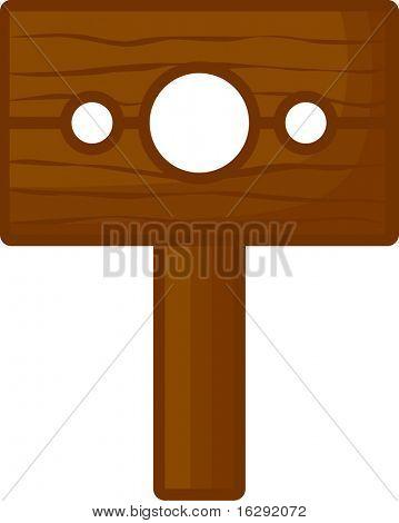 medieval wooden stockade