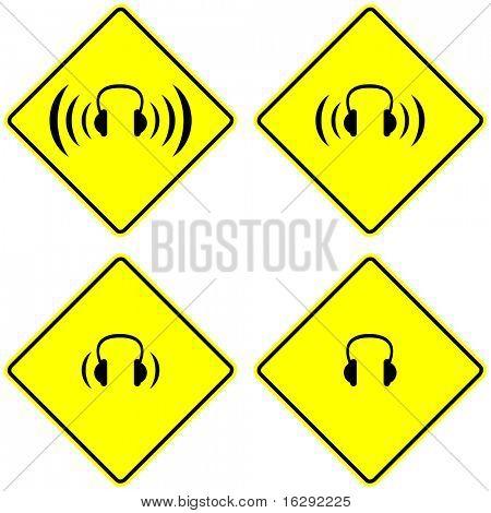 headphones signs