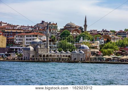 Istanbul city, Turkey - mosque sea view.