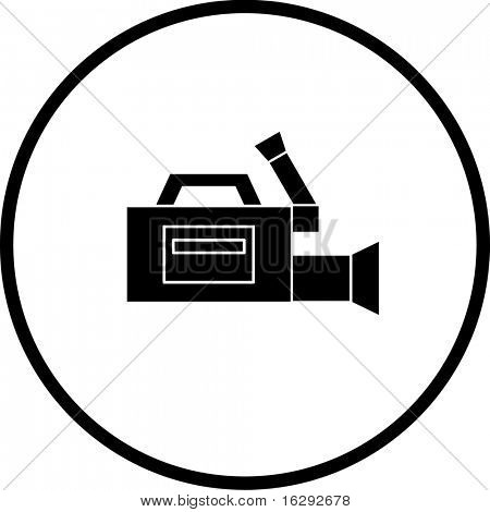 professional video camera symbol