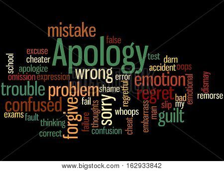 Apology, Word Cloud Concept