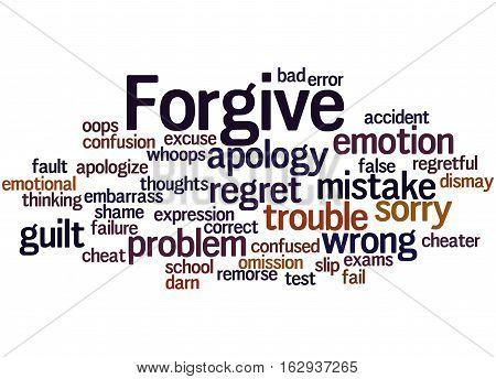 Forgive, Word Cloud Concept 2