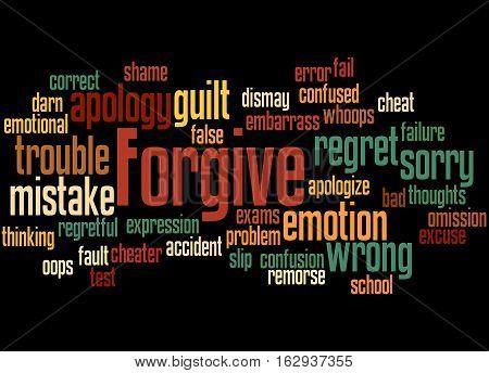 Forgive, Word Cloud Concept 4