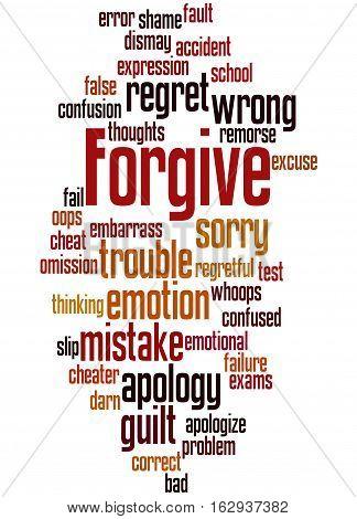 Forgive, Word Cloud Concept 5