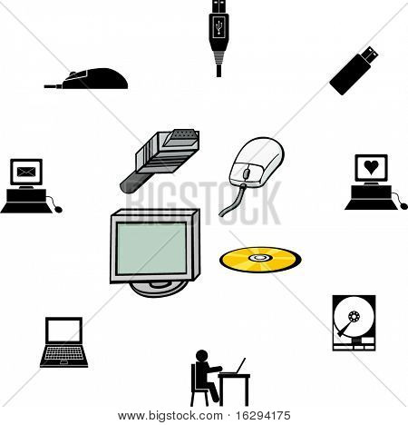 computer illustrations and symbols set 2