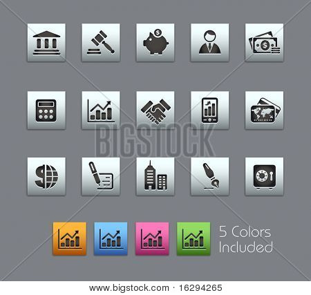 Business & Finance // Satinbox Series -------It includes 5 color versions for each icon in different layers ---------