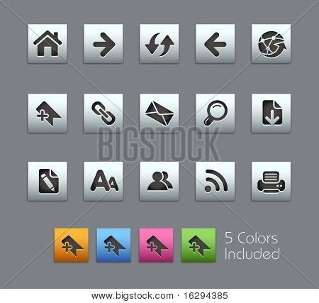 Web Navigation // Satinbox Series -------It includes 5 color versions for each icon in different layers ---------