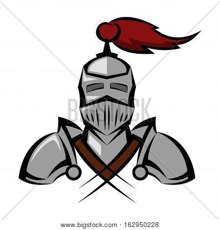 knight vector illustration armor man warrior battle