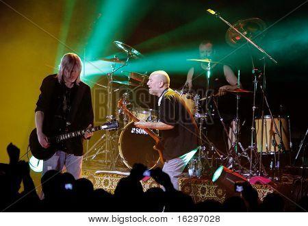 VITEBSK, BELARUS - MARCH 20: Performance of rock group Nazareth on march 20, 2010 in Vitebsk, Belarus