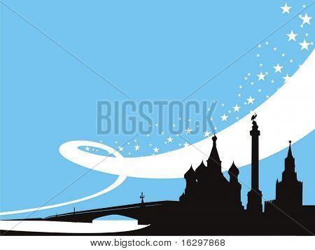 Russische Hintergrund. Vektor-illustration