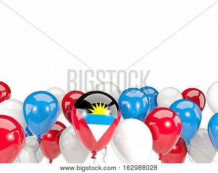 Flag Of Antigua And Barbuda With Balloons