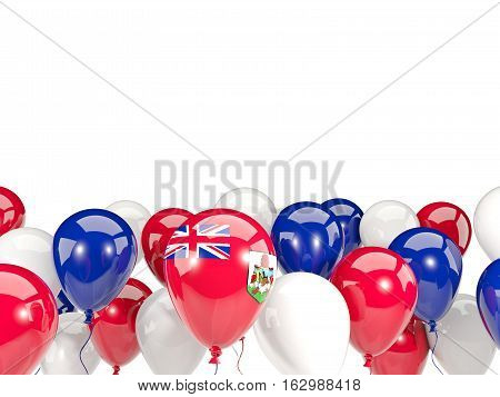 Flag Of Bermuda With Balloons