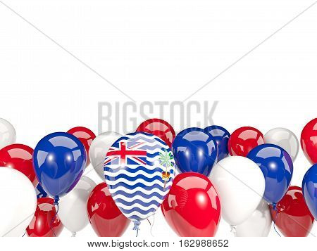 Flag Of British Indian Ocean Territory With Balloons