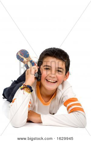 Child Talking On The Phone