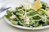 picture of caesar salad  - Close up of Caesar Salad  at a high end restaurant - JPG