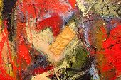 Abstract art background. Oil painting on canvas. Hand-painted. Contemporary art. Fragment of artwork poster