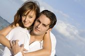 stock photo of idealistic  - happy young couple - JPG