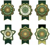 picture of gold medal  - set of design elements - JPG