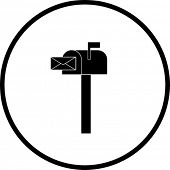 stock photo of telegram  - mailbox symbol - JPG