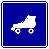 foto of roller-derby  - roller skate sign - JPG