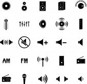 audio icons set 1
