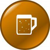 picture of beer mug  - beer mug button - JPG