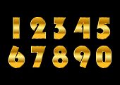Gold Numbers Isolated poster