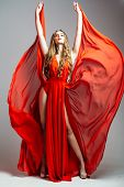 Sexy Girl In Red Dress poster