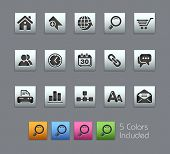 Web Site & Internet  // Satinbox Series -------It includes 5 color versions for each icon in differe