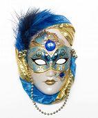 Постер, плакат: Венецианская маска с ювелирные изделия бриллиантами и жемчугом