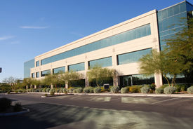 stock photo of commercial building  - Commercial Building - JPG