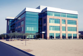 stock photo of commercial building  - Modern Commercial Building - JPG