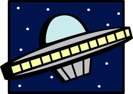pic of ovni  - ufo ship in the space - JPG