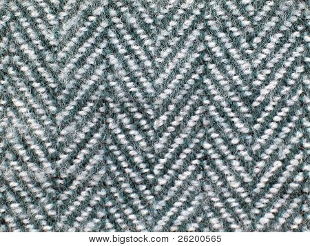 Closeup of fabric herringbone pattern
