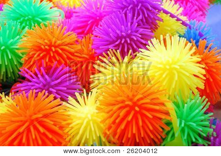 Colorful rubber toy for background
