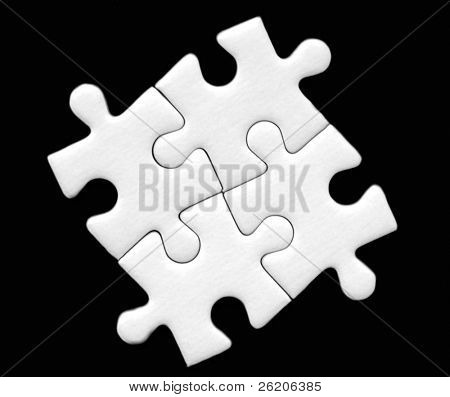 Four pieces of jigsaw puzzle