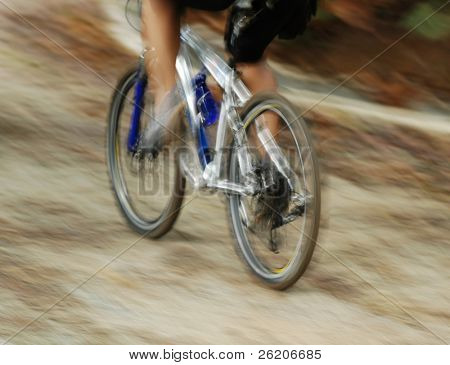 Image of Abstract Mountain Bike Race