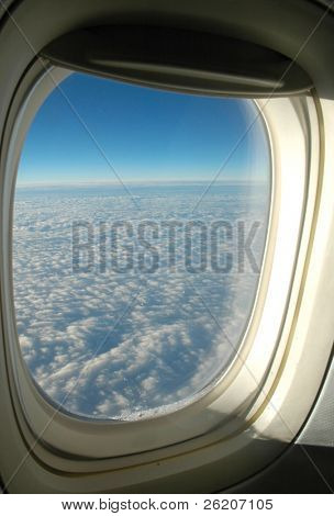 View from the aeroplane's window