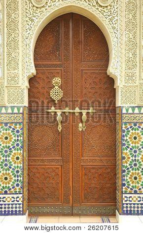 Moroccan entrance door way