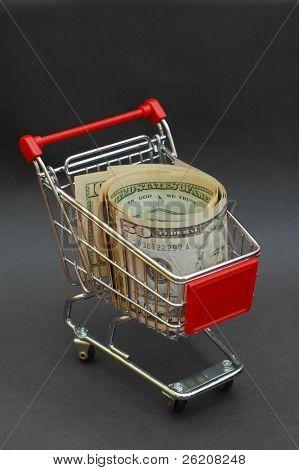 American Dollar in Shopping Cart