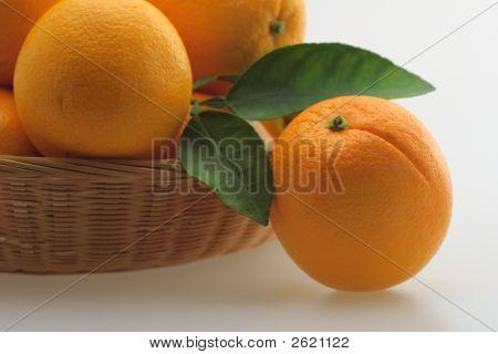 Basket With Oranges