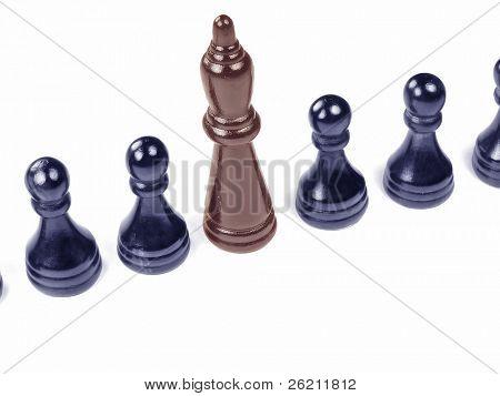 Unique King amongst Uniform Pawns