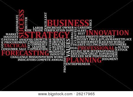 A scramble of business buzz words for backgrounds