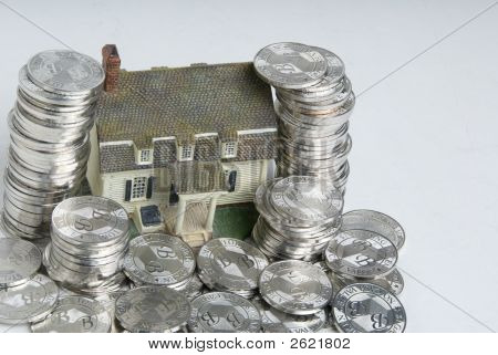 Stacks Of Debt #3 Top View - House Series