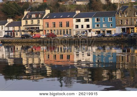 Tarbert, Scotland waterfront from the harbour