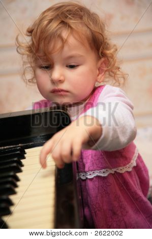 Little Girl And Piano